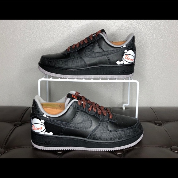 Nike Other - NEW Nike Air Force 1 low detroit away black orange